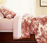 Matine Toile Duvet Cover & Sham - Cranberry