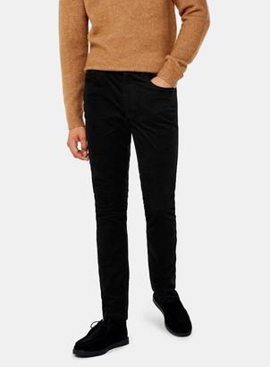 TopmanTopman Black Micro Corduroy Stretch Skinny Trousers