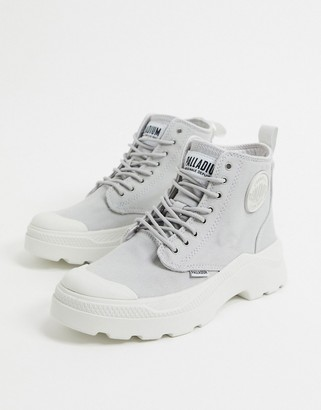 Palladium Pallakix Hi flat ankle boots in grey