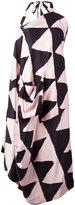 Vivienne Westwood triangular print asymmetric dress