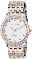 Akribos XXIV Women's AK620TT Lady Diamond Two-Tone Swiss Quartz Watch