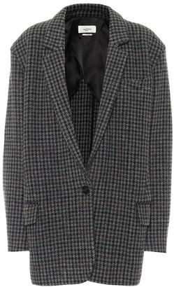 Etoile Isabel Marant Kaito houndstooth virgin-wool blazer