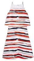 Aqua Girls' Popover Stripe Dress, Big Kid - 100% Exclusive