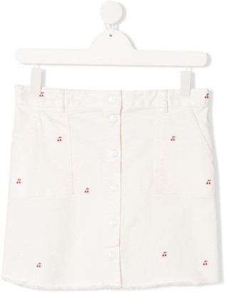Bonpoint TEEN Exie cherry embroidered skirt