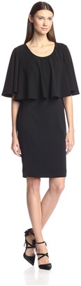 Badgley Mischka Women's Flare Top Sheath Dress