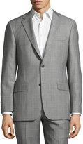 Hickey Freeman Classic-Fit Windowpane Suit, Gray