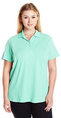 Riders by Lee Indigo Women's Plus-Size Short Sleeve Knit Polo