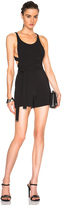 David Koma Side Cut Out Playsuit