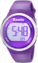 Roots Women's 1R-AT405LA1L Cayley Digital Display Quartz Purple Watch