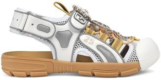 Gucci embellished mesh hybrid sandals