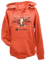 John Deere Sunset Orange Skull Notch-Neck Hoodie - Plus Too