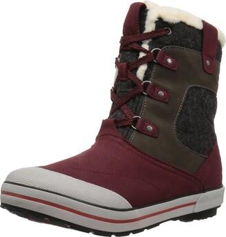 Keen Women's elsa Premium mid wp-w Snow Boot Pinot Noir/Anthrazite 5 M US