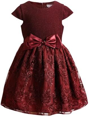 Youngland Girls 4-6x Glittery Lace Dress