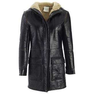 Each X Other Each X Black Leather Coat for Women
