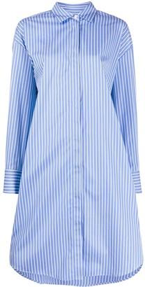 MSGM Striped Fringed Shirt Dress