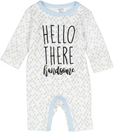 Baby Essentials White 'Hello There' Overalls - Infant