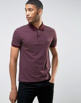 Lacoste Polo Shirt With Polka Dot In Red Slim Fit