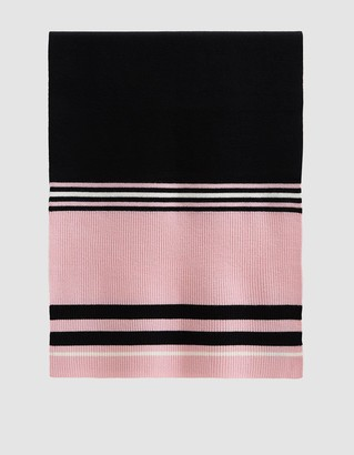 Just Female Women's Trix Striped Scarf in Black/Rose | Wool