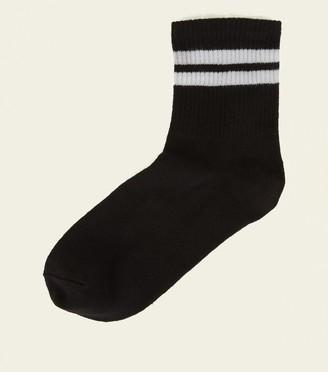 New Look Ribbed Sport Stripe Socks