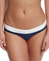 Heidi Klein Cape Cod Striped Hipster Swim Bottom, Navy