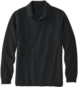 L.L. Bean Men's Premium Double L Polo, Long-Sleeve Without Pocket