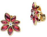 Anne Klein Epoxy Flower-Shaped Stud Earrings