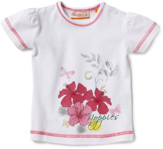 Noppies Girls White 95% Cotton 5% Elastane T-Shirt Size 104cm (4-5 Years)