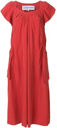 Carven Ruched Detail Straight Dress