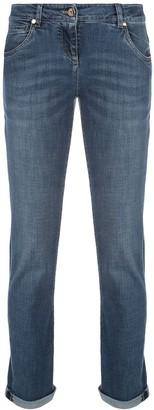 Brunello Cucinelli High Rise Straight-Leg Jeans