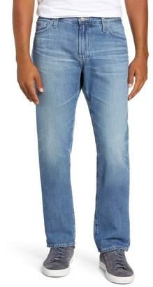 AG Jeans Everett Ripped Black Slim Straight Jeans