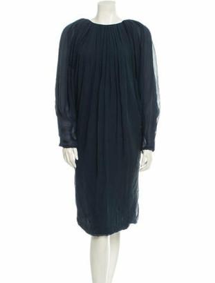Lanvin Silk Dress Navy