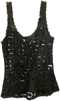 Intermix Black Cotton Top for Women