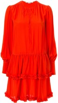 Stella McCartney Ruffle-Trim Tiered Dress