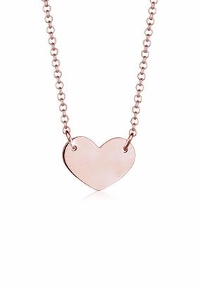 Elli Women's Rose Gold Pendant Necklace 0104171118_45 - 45cm length