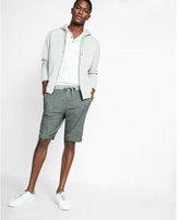 Express 10 inch marled knit drawstring shorts