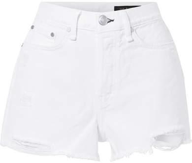 Rag & Bone Maya Distressed Denim Shorts - White