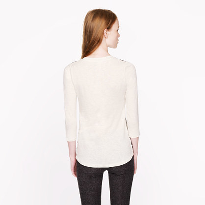 J.Crew Embroidered-front tee