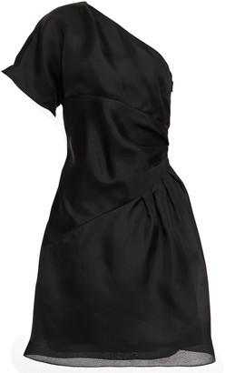 Lanvin One-shoulder Silk-mikado Mini Dress