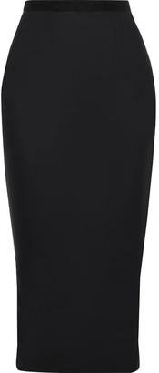 Rick Owens Lilies Felt-trimmed Shell Midi Skirt