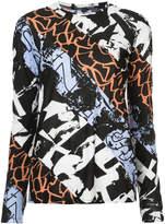 Proenza Schouler contrast printed top