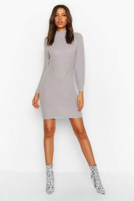 boohoo Tall Ribbed Knitted Jumper Dress
