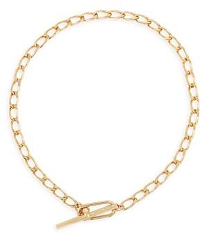 AllSaints Link Toggle Necklace, 15