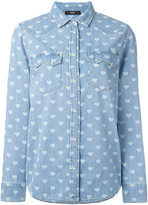 Diesel heart print shirt - women - Cotton - M