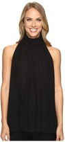 Vince Camuto Sleeveless Shirred Neck Halter Blouse
