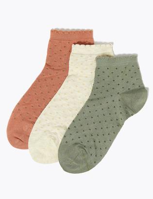 Marks and Spencer 3 Pack Seamfree Anklet Socks