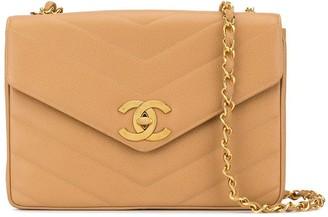 Chanel Pre Owned 1995 Jumbo Chevron quilt shoulder bag