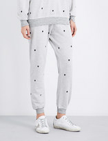 The Great Cropped Heart tapered mid-rise cotton-blend jogging bottoms
