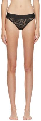 Versace Underwear Black Lace Medusa Briefs