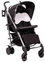 Basson Baby Black Pico Quilted 6 Wheel Stroller