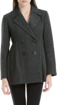 Max Studio Heathered Wool Twill Tailored Jacket